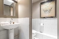 neat and trim lavatory in Paris - Rue de Thorigny Loft luxury apartment