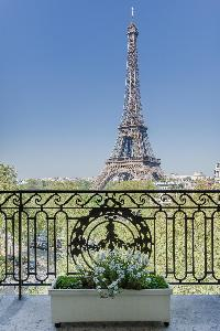 Eiffel Tower view from a 2-bedroom Paris luxury apartment