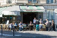 L'Esmeralda nearby cafe from Paris luxury apartment
