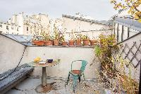 awesome terrace of Paris - Rue Jules César Loft luxury apartment