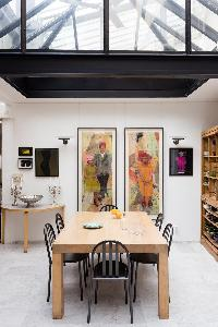 awesome dining room of Paris - Rue Jules César Loft luxury apartment