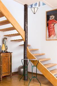 cool staircase of Paris - Rue Jules César Loft luxury apartment