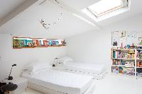awesome bedroom of Paris - Rue Jules César Loft luxury apartment