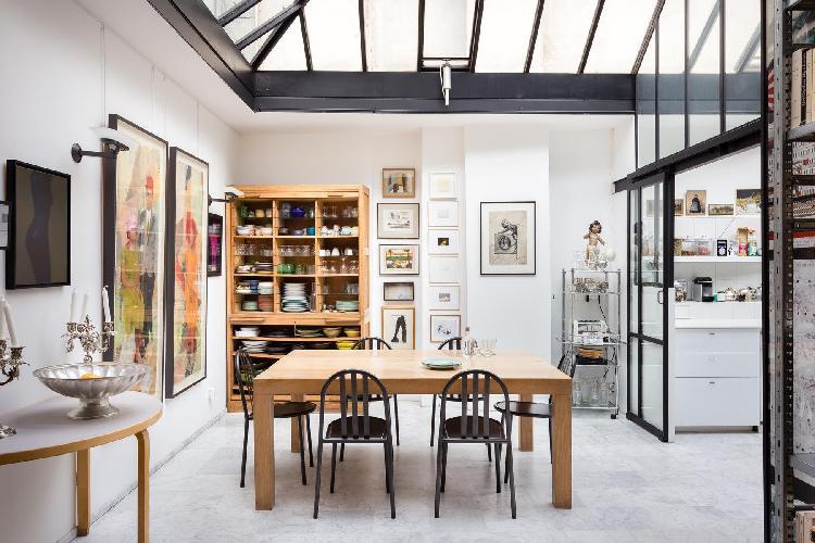 awesome glass roof of Paris - Rue Jules César Loft luxury apartment