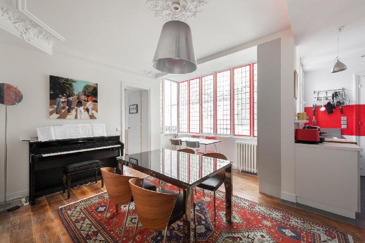 breezy and bright Paris - Rue des Belles Feuilles luxury apartment