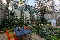 amazing patio and garden at Paris - Rue du Bac VI luxury apartment