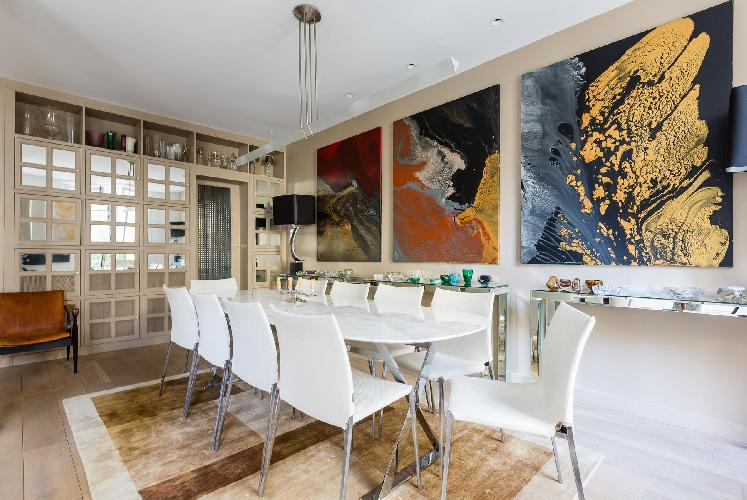 awesome dining room of Paris - Rue du Bac VI luxury apartment