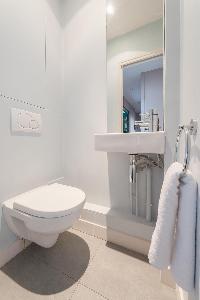 sleek toilet in Paris luxury apartment