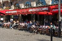 Latin Quarter neighborhood surrounded by a variety of shops, restaurants, and cafés