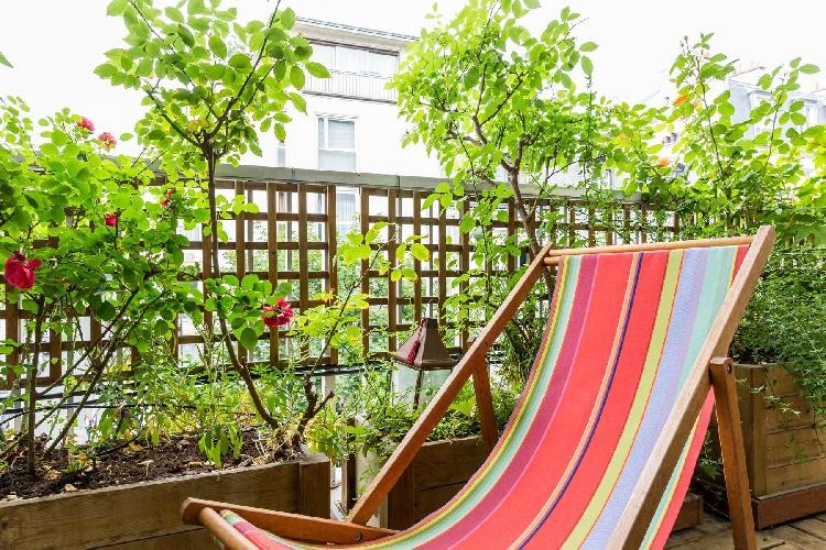 awesome terrace garden of Paris - Rue Notre-Dame-des-Champs II luxury apartment