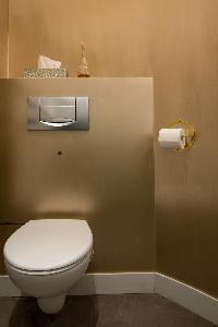 fresh and clean toilet and bath in Paris - Rue du Faubourg Poissonnière IV luxury apartment