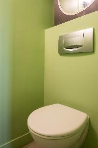 clean and fresh toilet and bath in Paris - Rue du Faubourg Poissonnière IV luxury apartment