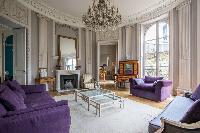 beautiful living room of Paris - Rue du Faubourg Poissonnière IV luxury apartment