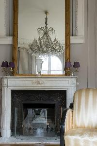 nice fireplace in Paris - Rue du Faubourg Poissonnière IV luxury apartment