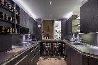 dapper modern kitchen of Paris - Rue du Faubourg Poissonnière IV luxury apartment