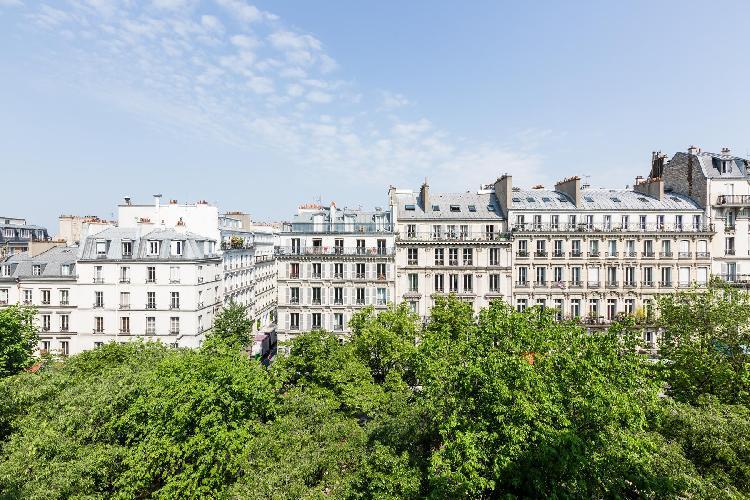awesome city view from Paris - Rue de Saint-Pétersbourg luxury apartment