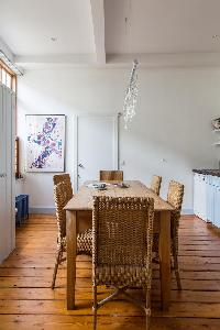 charming dining area of South Ken London Ensor Mews luxury apartment