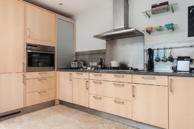 spacious, well-appointed kitchen of London Campden Street V luxury apartment