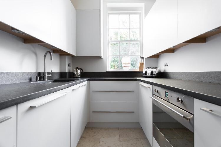 awesome modern kitchen of London Kensington Church Walk luxury apartment
