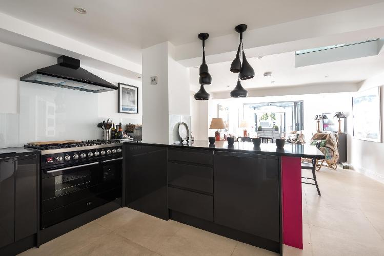 bright and breezy kitchen of London Kennington Road luxury apartment