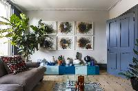 sitting-room indoor plants in London Albion Road luxury apartment