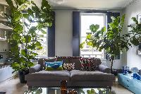 airy and sunny sitting room of London Albion Road luxury apartment