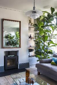 sitting-area mirror in London Albion Road luxury apartment