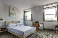 twin bedroom windows in London Albion Road luxury apartment