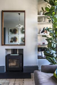 sitting-room furnishings in London Albion Road luxury apartment