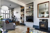 TV room and entertainment hub of London Albion Road luxury apartment