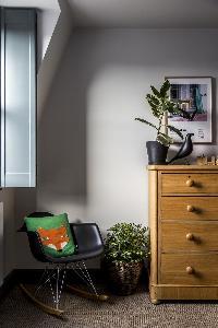 cute bedroom furnishings in London Albion Road luxury apartment