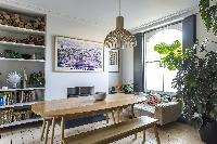 bright and breezy dining area of London Albion Road luxury apartment