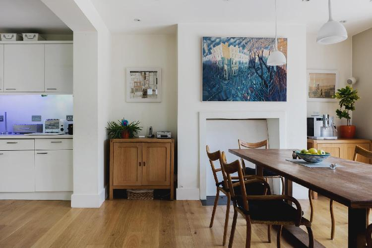 nice dining area of London Eton Villas luxury apartment