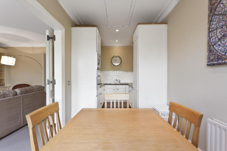 charming dinette in London Stanhope Gardens luxury apartment