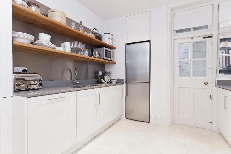 modern kitchen appliances in London Dorset Square luxury apartment