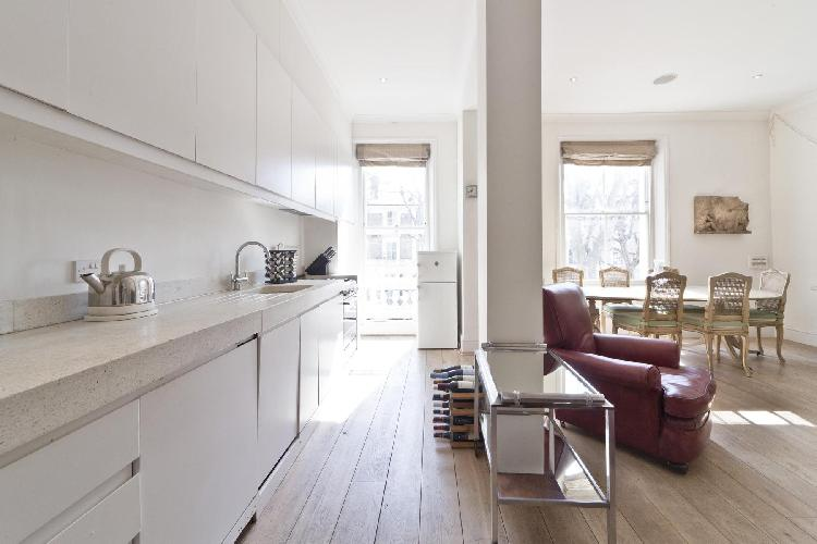 a wine rack in London Bassett Road IV luxury apartment