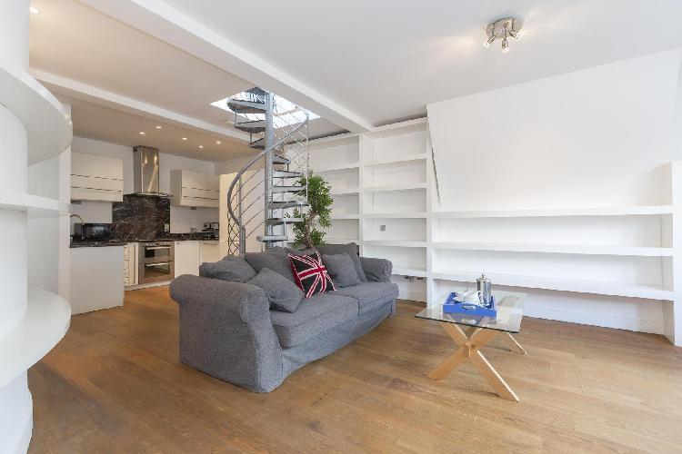 swanky and serene multilevel London Berners Street luxury apartment
