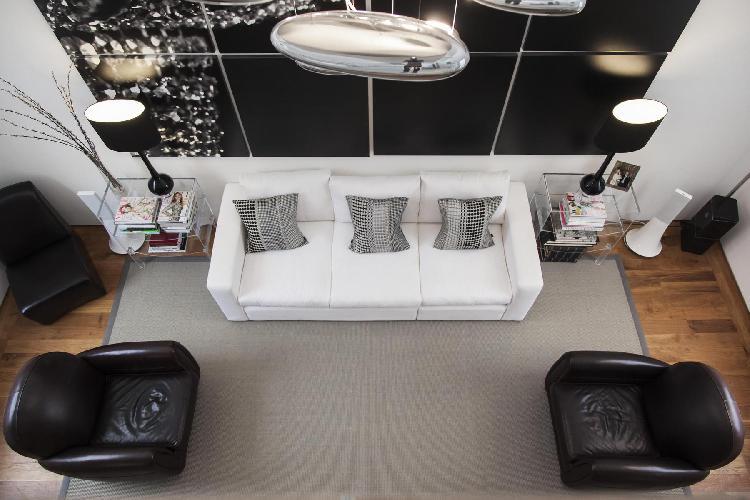 awesome living room of multilevel London Ladbroke Road luxury apartment