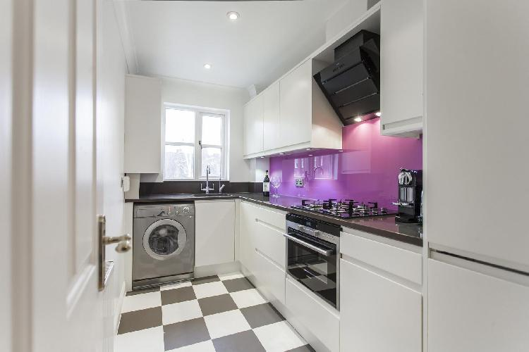 cool kitchen of London Theed Street luxury apartment