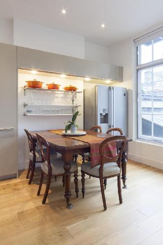 charming dining room of London Crawford Street luxury apartment