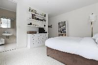 tasteful bedroom furnishings in London Alwyne Place luxury apartment