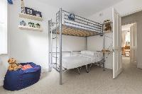 bunk bed in kids' bedroom of London Alwyne Place luxury apartment