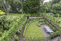 aerial view of well-kept garden of London Alwyne Place luxury apartment