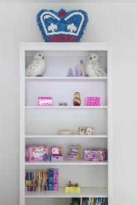 a shelf in London Alwyne Place luxury apartment