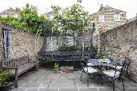 awesome patio of London Winchendon Road luxury apartment