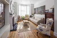 delightful living room of London Winchendon Road luxury apartment