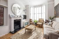 pretty parlor of London Winchendon Road luxury apartment