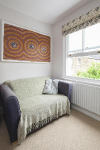 comfy sofa in London Winchendon Road luxury apartment