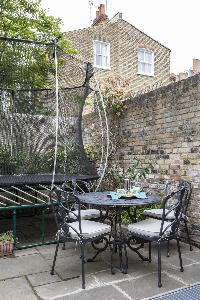 cool terrace of London Winchendon Road luxury apartment
