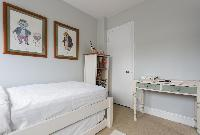 fresh and clean bed sheets in London Winchendon Road luxury apartment